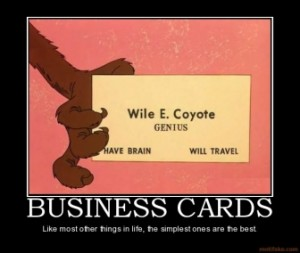 Business Cards for Creative Types